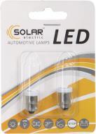Лампа автомобільна LED 12V T8.5 BA9s 1smd 5050 white, 2шт