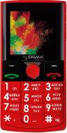Мобільний телефон Sigma comfort 50 solo red
