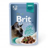 Корм Brit Premium для котів філе яловичини в соусі, пауч, 85 г 111253