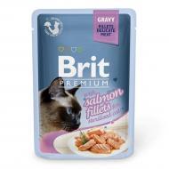 Корм Brit Premium для стерилізованих котів філе лосося в соусі, пауч, 85 г