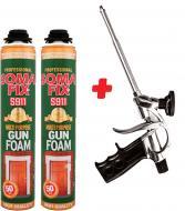 Піна монтажна Soma S911 2 шт. + пістолет для піни 750+750 мл