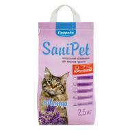 Наповнювач Природа для котячого туалету Sani Pet, бентоніт, лаванда, 2,5 кг