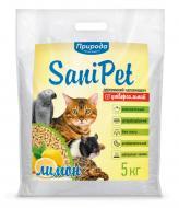 Наповнювач Природа для котячого туалету Sani Pet, деревний, лимон, 5 кг