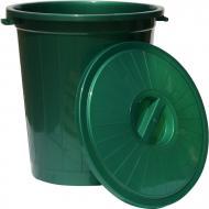 Бак для сміття із кришкою 70 л зелений