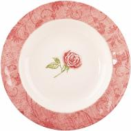 Тарілка супова Damascus flower Pink 24 см 910-083 Claytan Ceramics