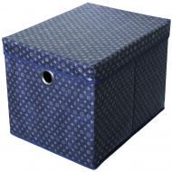 Короб для зберігання із кришкою Тарлев 15329 Navy blue синій 300x300x400 мм