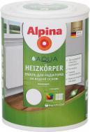 Емаль Alpina акрилова для радіаторів Aqua Heizkorper білий глянець 0,75л