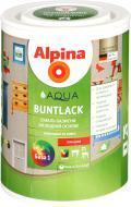 Эмаль Alpina акриловая Aqua Buntlack GL B1 белый глянец 0,75л