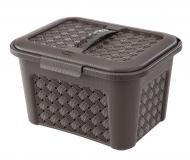 Кошик для зберігання пластиковий Tontarelli 6040 TT для дрібниць венге 172x276x218 мм