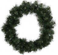 Вінок новорічний зелений d60 мм