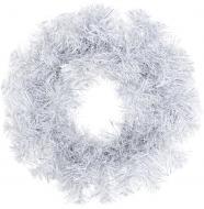 Вінок різдвяний сріблясто-білий d400 мм