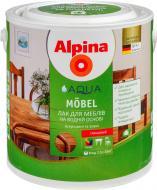 Лак акриловый Aqua Mobel GL Alpina глянец прозрачный 2,5 л