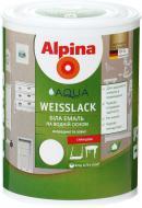 Эмаль Alpina акриловая Aqua Weisslack GL белый глянец 0,75л