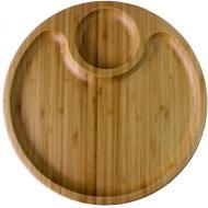 Дошка сервірувальна кругла 30,5 см., бамбук Wilmax