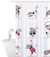 Шторка для ванни Tatkraft Funny Cats