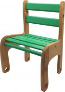 Стільчик для дітей ArinWOOD Вудік-колор зелений 04-04G