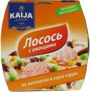 Консерва Kaija Лосось з овочами по-угорськи в соусі карі 220 г