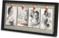 Мультирамка Velista 4 фото 10x15 см черный
