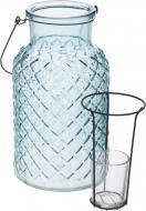 Свічник Ліхтар зі скляним стаканчиком 14x26 см