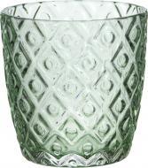 Свічник для чайної свічки Ромб 8,8x9 см сірий