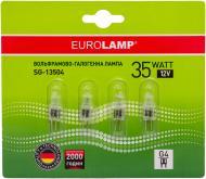 Лампа галогенна EUROLAMP 4 штуки в упаковці 35 Вт G4 12 В прозора SG-13504