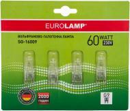 Лампа галогенна EUROLAMP 4 штуки в упаковці 60 Вт G9 230 В прозора SG-16009