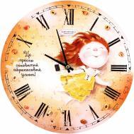 Годинник настінний Фруктовий настрій. Абрикосовий ульот Gapchinska