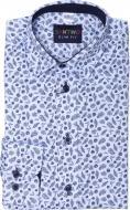 Рубашка детская 9312 р.122 бело-голубой