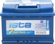 Акумулятор автомобільний Ista 7 Series 6СТ-74 А2 74А 12 B «+» праворуч