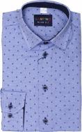 Рубашка детская Легпромторг 21548 р.140 голубой с принтом