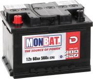 Акумулятор автомобільний Monbat D 60А 12 B A66B2K0_1 «+» ліворуч