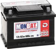 Акумулятор автомобільний Monbat D 62А 12 B A67B2W0_1 «+» праворуч