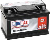 Акумулятор автомобільний Monbat D 75А 12 B A77B3W0_1 «+» праворуч