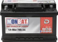 Акумулятор автомобільний Monbat D 80А 12 B A88B3W0_1 «+» праворуч