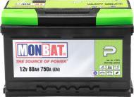 Акумулятор автомобільний Monbat P 80А 12 B A88В3X0_1 «+» праворуч