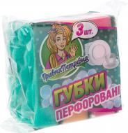 Губка для миття посуду Гривня Петрівна Хвиля 3 шт.