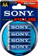 Батарейка Sony Stamina Plus AA (R6, 316) 4 шт. (30703021)