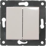 Перемикач прохідний двоклавішний HausMark Alta без підсвітки 10 А 220В кремовий SNG-SWP.SQ20MG2W2-CR
