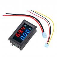 Вольтметр амперметр цифровой 0-100В 0-10А Черный (ZC15400)