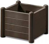 Вазон пластиковий Stefanplast Italia квадратний 30л (80033) коричневий