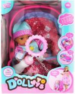 Пупс DollToys у колисці LD9807B