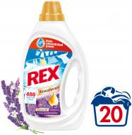 Рідкий засібгель для машинного та ручного прання REX Ароматерапія з ефірними оліями та ароматом прованської лаванди і