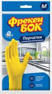 Рукавички латексні Фрекен Бок надміцні р.M 1 пар/уп. жовті