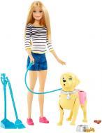 Кукла Barbie Прогулка с щенком DWJ68