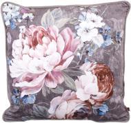 Подушка декоративная Велюр Nellie 50x50 см серый с принтом La Nuit