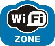 Наклейка Зона Wi-Fi 160х135 мм