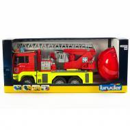 Пожежна машинка Bruder MAN TGA з водою, каскою, світлом і звуком 1:16 01760