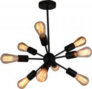Люстра стельова Accento lighting Corrida 9x40 Вт E27 чорний