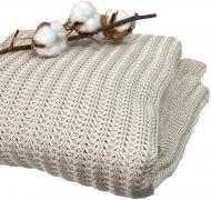 Плед Cotton Бежевый 130x170 см La Nuit