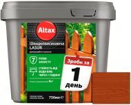 Лазурь быстросохнущая Altax Lasur декоративно-защитная махонь полумат 0,75 л
